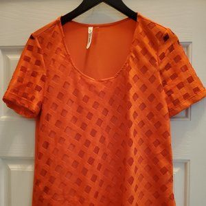 NY Collection Orange Top - Size S
